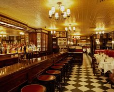 """Minetta Tavern Greenwich Village Manhattan New York. Finally got in the door. My first trip ended at the door, a wait to get into a restaurant and bar at capacity. As Zagat says it """"takes an act of Congress to get a reservation."""""""