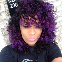 Purple hair is one of the hottest trends! Here are 10 ways to have FABULOUS purple hair! Purple Natural Hair, Hair Color Purple, Cool Hair Color, Curly Purple Hair, Purple Tips, Summer Hairstyles, Pretty Hairstyles, Wig Hairstyles, Balayage Hair Blonde