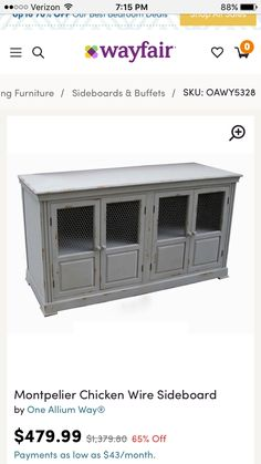 Home Decorators Collection Artisan White Buffet Buffet Tables