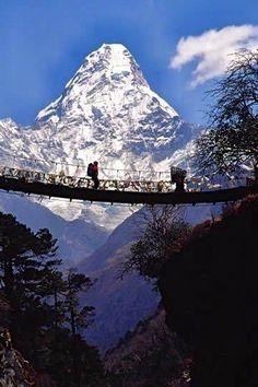 Bridge, Mt. Everest ~ Nepal.