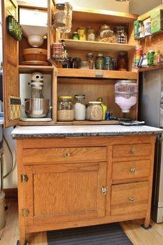 Best 1910 Oak Hoosier Cabinet W Flour Sugar Bins 7Pc 640 x 480