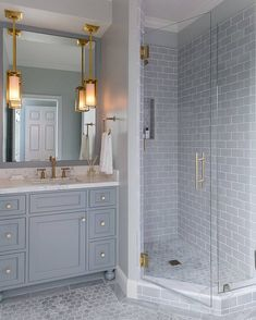Design Takeaways From One of the Most Beautiful DIY Bathroom Renovations Ever & How to Make a Small Bathroom Look Bigger Most Popular Small Bathroom Remodel Ideas on a Budget in 2018 Bathroom Tile Designs, Bathroom Renos, Bathroom Flooring, Bathroom Interior, Modern Bathroom, Bathroom Vanities, Bathroom Grey, Bathroom Island, 1950s Bathroom