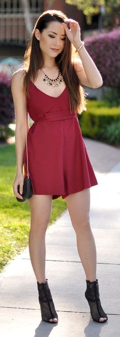 Red Wine Inspiration Romper by Hapa Time