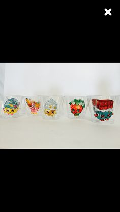 Cups with stickers
