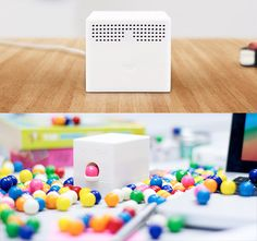 The USB device dispenses candy whenever someone tweets you!