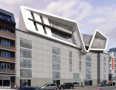 Penthouse auf Hochbunker - Baukörper in amorpher Architektur by www.flow-architektur.de