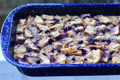Warm and Sweet Blueberry Bread Pudding
