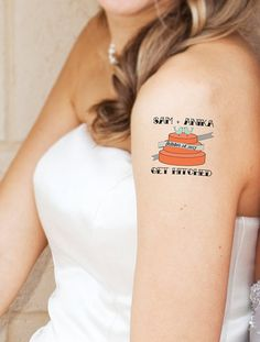 Imprint your wedding day — temporarily, at least — on the bodies of loved ones with these save the date temporary tattoos.