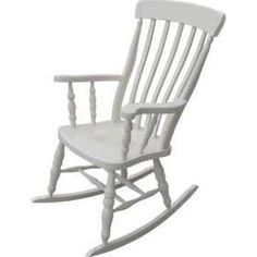 nursery chair White Rocking Chairs, Painted Rocking Chairs, Rocking Chair Porch, Farrow And Ball Paint, Farrow Ball, Cheap Furniture, Painted Furniture, Furniture Stores, Kitchen Furniture