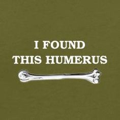 Ironic that I see this since my brother just broke his humerus. And indeed, it is... humorous.