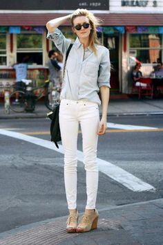 White Jeans Fashion#Zanzea fashion