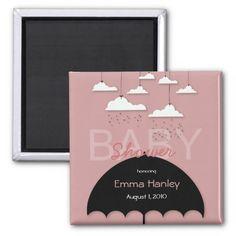 Umbrella Baby Shower Save the Date Magnet Fridge Magnet