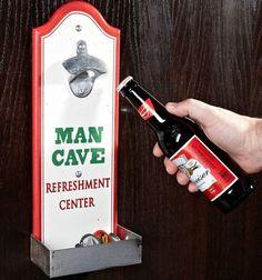 Fancy - Man Cave Beer Bottle Opener with Cap Catcher