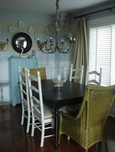 """""""ladder Back"""" Dining Chair Design, Pictures, Remodel, Decor and Ideas - Shabby Chic Dining Room, Casual Dining Rooms, Home, Dining, Casual Dining Furniture, Traditional Dining Rooms, Home Decor, Dining Chair Design, Room"""