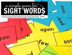 Sight words play such an important part in building a foundation for reading.especially with my struggling first graders. Today I wanted to share with you a quick and simple game we use to practice Word Work Centers, Reading Centers, Reading Fluency, Guided Reading, Teaching Reading, Reading Games, Guided Math, Reading Activities, Learning