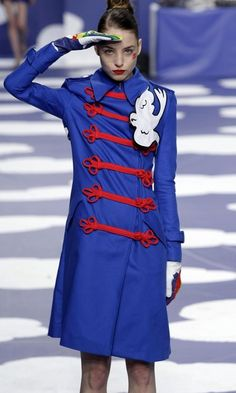 Models on the catwalk at the Jean-Charles de Castelbajac Spring/Summer 2009 collection fashion show during the Paris Fashion Week, Paris, France.