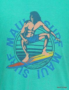 Vintage 80 ' s Maui surf tshirt L par retropopmanila sur Etsy, $24.99