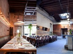 the picture on the left embodies the tone and feel of what im thinking for the  dinning area