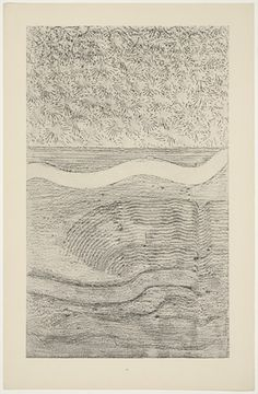 Max Ernst. Le châle à fleurs givre (Iceflower Shawl and Gulf Stream) from Histoire Naturelle. 1926.  (Reproduced frottages executed c. 1925).