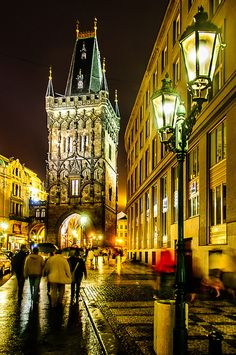 Powder Tower Prague. Prague is full of this beautiful gothic architecture. I can't get enough of this beautiful city.