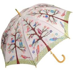 Amazon.com: Owls Auto Open Sunflower Cane Umbrella: Clothing