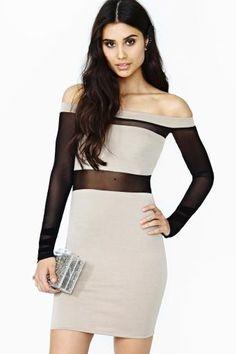 Block Out Mesh Dress