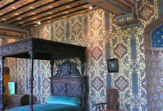 Chateau De Blois Interior | One of the sumptuously decorated bedrooms in Château de Blois