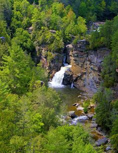 Linville Falls, (Shown) (1 to 4 miles roundtrip, easy to strenuous) This is probably the most photographed waterfall in North Carolina. Hike to one or all five viewpoints via two trails that leave the Visitors Center. At the link, Top 60 hikes Asheville Hikes & Trails in NC Mountains