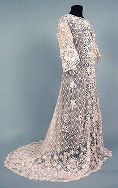 Irish Crochet Lace wedding dress