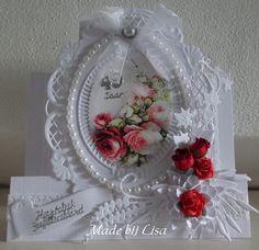 Voorbeeldkaart - Kaart voor een trouwdag. - Categorie: Figuurkaarten - Hobbyjournaal uw hobby website
