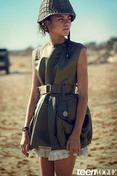 vogue fashion 2015 photos Snapshot: Zendaya Coleman by Boo George for Teen Vogue February 2015 Military Trends, Military Chic, Military Looks, Military Girl, Military Female, Zendaya Coleman, Fashion Mode, Vogue Fashion, Teen Fashion