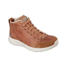 promo code c804d 73307 Smooth leather-textured fabric upper in a lace up casual high top cool  weather sneaker with stitching ...