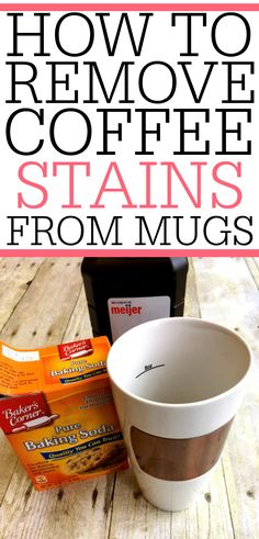 Remove those gross tea and coffee stains from your mugs with this simple tip. It only takes a few minutes to remove coffee stains from mugs and make them look new again! Deep Cleaning Tips, Cleaning Solutions, Cleaning Hacks, Coffee Stain Removal, Classic Kitchen, Clean Baking Pans, Thing 1, Cleaning Painted Walls, Glass Cooktop