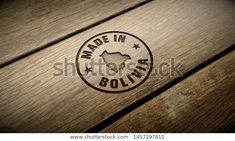 Foto de stock sobre Made Bolivia Wood Engraving Embossed Stamp (editar ahora) 1457197811