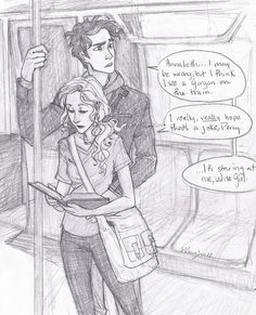 Distraction by *burdge-bug -- Percy and Annabeth