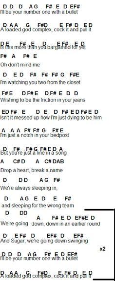 Flute Sheet Music: Fall Out Boy