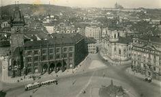 Když ještě jezdily tramvaje po Staroměstském náměstí