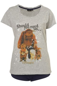 I need this Labyrinth shirt! The little dog riding the big dog has always been my fave<3