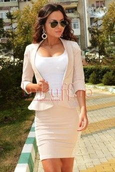 Compleu crem cu broderie Peplum Dress, Clothes, Dresses, Style, Fashion, Embroidery, Outfits, Vestidos, Swag