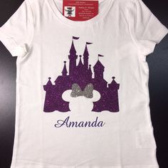 Disney Castle/Cinderella Castle/Kids Disney Shirts/Custom Disney/Glitter Castle Shirt/Personalized Disney Shirt by DiDistitchin on Etsy https://www.etsy.com/listing/468961909/disney-castlecinderella-castlekids
