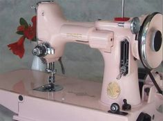 Awesome pink Singer sewing machine