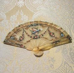 Miniature Horn Fan - Exquisite Antique Period Piece for French Fashion
