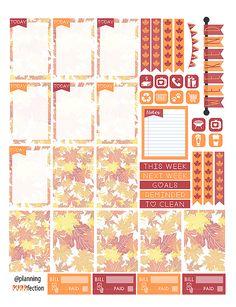 Free Autumn Stickers   ink&wink