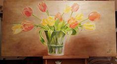 Life Expressions. Oil on canvas 120 x 60.  Gazling study. Titolo: Espressioni di vita. Olio su tela 120 x 60.  Studio sulla velatura. Maria Marta Racca 2015