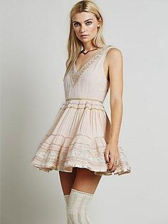 bc63c57899e7 I just discovered this while shopping on Poshmark  FREE PEOPLE Mini Dress  Patterned Bohemian Classic NWT.