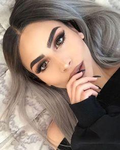 Best Eyebrow Trends To Upgrade Your Brow Game # Augenbrauen warmtonessmokey Eyes Haare Cabelo Inspo, Eyebrow Trends, Best Eyebrow Products, Hair Products, Beauty Products, Balayage Hair, Gray Balayage, Pretty Hairstyles, Gray Hairstyles