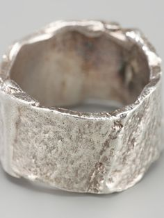 Men - Jewellery - Alice Waese Cut Bark Ring - Hostem Shop #jewellerymonthly #lovejewellery
