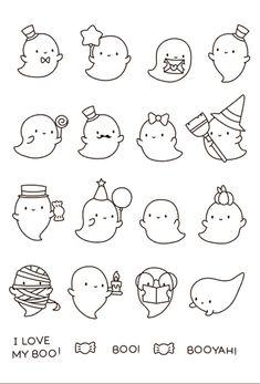 Cute Easy Drawings, Mini Drawings, Art Drawings For Kids, Art Drawings Sketches Simple, Doodle Drawings, Doodle Art, Animal Drawings, Kawaii Doodles, Cute Doodles