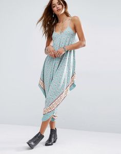 28300f5807d Image 1 of Stitch   Pieces Harem Festival Jumpsuit In Border Print Festival  Jumpsuits