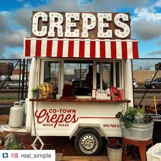 We agree, @real_simple - it is definitely not easy to walk past Co-Town Crepe Stand at the silos every day and not stop! #wacotown #magnoliamarket #realsimple ・・・ It would be impossible to not get a crepe at this adorable stand in Waco, TX! Thanks for the great find, @breezylake! (Photo: @breezylake, #RSred)